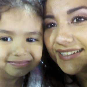 Karina Gonzalez and her young daughter Wendy are seen in a photo provided to KTLA.