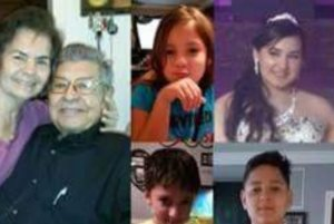A GoFundMe page displays this photo collage showing all the victims in the incident.