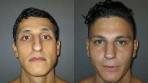 Brandon Vielkind (left) and Paul Vielkind are seen in photos released by the Irvine Police Department on Aug. 31, 2017.