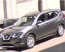 A car believed to be used in the scam is seen in an image provided by the Los Angeles Police Department.