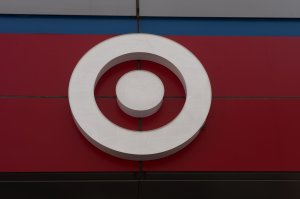 Target's logo is seen outside a store on April 10, 2017 in New York. (Credit: BRYAN R. SMITH/AFP/Getty Images)