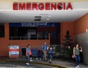 A hospital in San Juan, Puerto Rico is seeni in a file photo.  (Credit: MARK RALSTON/AFP/Getty Images)