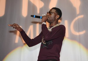 Rapper Young Dolph performs onstage at night four of the Late Night Concert during the 2017 BET Experience at The Novo by Microsoft on June 25, 2017 in Los Angeles, California. (Credit: Paras Griffin/Getty Images for BET)