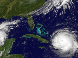In this NOAA handout image, NOAA's GOES satellite shows Hurricane Irma as it moves towards the Florida Coast in the Caribbean Sea taken at 16:15 UTC on September 07, 2017. (Credit: NOAA GOES Project via Getty Images)