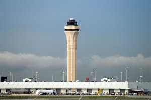 The airport control tower at Miami International Airport is seen in this file photo. (Credit: iStock / Getty Images Plus)