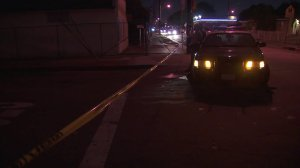 Deputies responded to a shooting in the 10100 block of Firmona Avenue in the Inglewood area on Sept. 3, 2017. (Credit: KTLA)