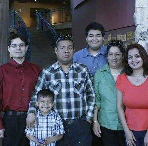 Cesar Montelongo Hernandez, left, provided this photo to CNN of his family.