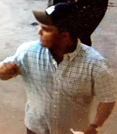 A man sought in Hollywood area distraction robberies is seen in an image provided by the Los Angeles Police Department.
