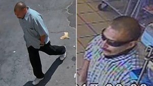 Surveillance images released by Santa Ana police on Sept. 27, 2017, show a man wanted in a series of robberies in Santa Ana.