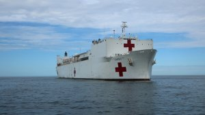 The USNS Comfort is an afloat, mobile medical facility that can provide hospital services to help support U.S. disaster relief and humanitarian operations worldwide. (Credit: U.S. Navy photo by Bill Mesta)