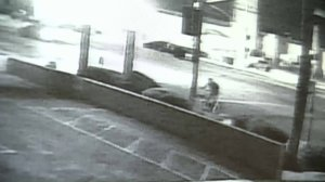 A still from surveillance video released by LAPD officials on Sept. 7, 2017, shows a woman who was eventually struck by two hit-and-run drivers.
