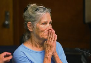 Brown cited the horrific nature of the murders and what he characterized as Leslie Van Houten's minimization of her role in them in overturning the parole board's decision. Van Houten is seen during a hearing on Sept. 6, 2017, at the California Institution for Women in Corona. (Credit: Stan Lim, Inland Valley Daily Bulletin/SCNG/pool)