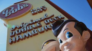 Two customers and nine employees were herded into a walk-in freezer, forced to give up their valuables and ordered to turn around and kneel, facing a wall, before being shot. In this file photo, a Bob's Big Boy sign is seen. (Credit: Christopher Reynolds / Los Angeles Times)
