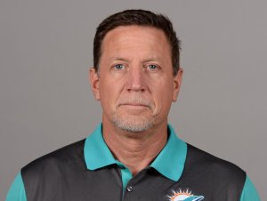 Miami Dolphins offensive line coach Chris Foerster is seen in a team photo.
