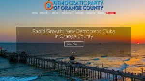 """In a statement, the Democratic Party of Orange County said it takes the accusations seriously and promised a raft of changes to its operation, including training for members and volunteers, a code of conduct that applies to all members, staff and volunteers of the party and taking """"immediate action"""" to investigate accusations as they arise. The Democratic Party of Orange County's website is seen in this photo."""
