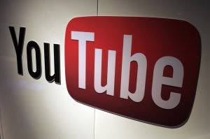 A photo shows a YouTube logo on Dec. 4, 2012 near Paris, France. (Credit: Eric Piermont/AFP/Getty Images)