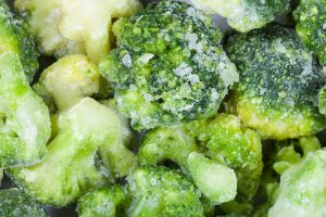 A view of frozen broccoli florets. (Credit: VvoeVale/iStock)