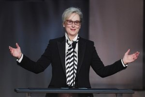 Actor Meryl Streep speaks onstage during American Film Institute's 45th Life Achievement Award Gala Tribute to Diane Keaton at Dolby Theatre on June 8, 2017 in Hollywood. (Credit: Kevin Winter/Getty Images)