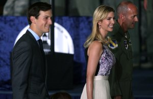 Ivanka Trump arrives with her husband Jared Kushner at an event September 15, 2017 at Joint Base Andrews in Maryland. (Credit: Alex Wong/Getty Images)