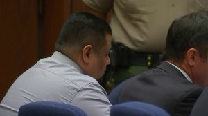 Isauro Aguirre (left) appears in court with his attorney on Oct. 16, 2017. (Credit: KTLA)