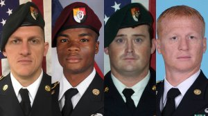 From left: Staff Sgt. Bryan C. Black, Sgt. La David Johnson, Staff Sgt. Dustin M. Wright and Staff Sgt. Jeremiah W. Johnson are shown in photos released by the U.S. Defense Department.