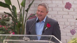 Actor Gary Sinise was named grand marshal of the 2018 Tournament of Roses Parade on Oct. 30, 2017. (Credit: KTLA)