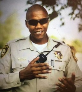 Las Vegas police released this photo of Officer Charleston Hartfield.