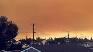 A KTLA viewer sent in this image of smoke from the Canyon Fire 2 as seen from Cypress on Oct. 9, 2017.
