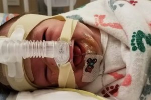 Baby Axel Winch is seen in a photo uploaded to a GoFundMe page in September.