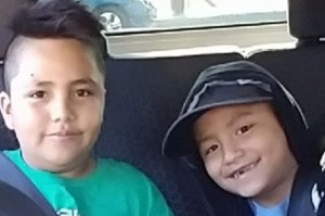 Marcos Hernandez, 9, and his 7-year-old brother Jose are seen in a photo posted to a GoFundMe page after the died in a crash in Boyle Heights on Nov. 16, 2017.
