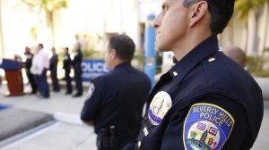 Beverly Hills police officers are seen in this undated file photo. (Credit: Al Seib / Los Angeles Times)