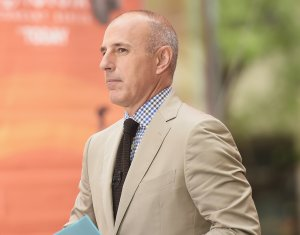 """Matt Lauer appears on NBC's """"Today"""" on Aug. 22, 2014, in New York City. (Credit: Michael Loccisano/Getty Images)"""