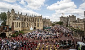 The order of the knights of the garter are seen at St George's Chapel in Windsor Castle on June 15, 2015, in Windsor, England. (Credit: Richard Pohle / Getty Images)