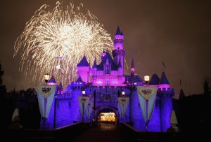 Fireworks explode over The Sleeping Beauty Castle during the Disneyland 50th Anniversary Celebration at Disneyland Park on May 4, 2005 in Anaheim. (Credit: Frazer Harrison/Getty Images)