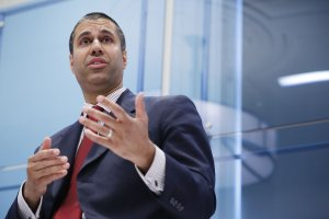 Federal Communication Commission Chairman Ajit Pai participates in a discussion, May 5, 2017, in Washington, DC. (Credit: Chip Somodevilla / Getty Images)