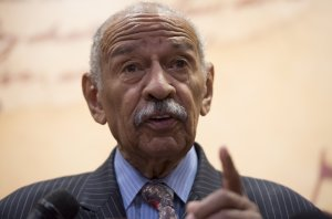 U.S. Representative John Conyers, Democrat of Michigan, speaks during a press conference on Capitol Hill, June 20, 2017. (Credit: Saul Loeb / AFP / Getty Images)