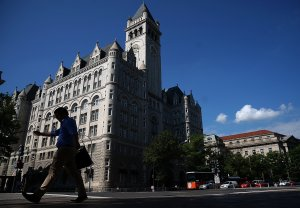 The Trump International Hotel is shown in Washington, DC, on Aug. 10, 2017. (Credit: Win McNamee / Getty Images)