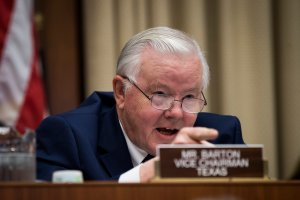 Committee vice chairman Rep. Joe Barton, R-Texas, questions witnesses during a House Energy and Commerce Committee hearing concerning federal efforts to combat the opioid crisis, October 25, 2017 in Washington, DC. (Credit: Drew Angerer/Getty Images)