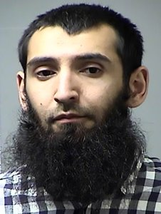 Sayfullo Saipov is shown in a booking photo from St. Charles County, Missouri, after an Oct. 21, 2016, arrest.