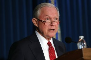 Attorney General Jeff Sessions speaks about domestic security in New York on November 2, 2017 in New York City. (Credit: Spencer Platt/Getty Images)