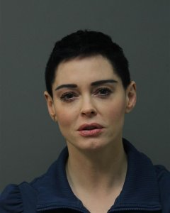 Rose McGowan is seen in a booking photo on Nov. 14, 2017. (Credit: Loudoun County Sheriff's Office via Getty Images)