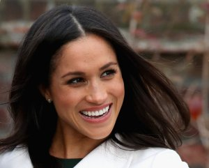 Meghan Markle during an official photocall to announce her engagement to Prince Harry at The Sunken Gardens at Kensington Palace on November 27, 2017 in London, England. (Credit: Chris Jackson/Getty Images)