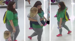 Authorities released images from a WalMart in Morehead City that could show a missing 3-year-old North Carolina girl (FBI)