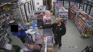 LAPD released this photo of a suspect in a Canoga Park gas station robbery as they sought the public's help in locating him.