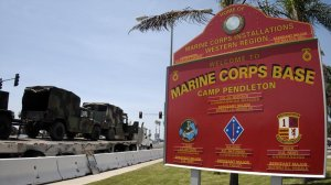 Camp Pendleton is shown in a file photo. A Marine MP is accused of beating and choking a woman at the base's Del Mar Beach Rental Cottages in February 2017. (Credit: KSWB)