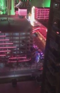 An image captured by a Twitter user shows police activity outside The Montage condos in Reno, Nevada, on Nov. 28. 2017. (Credit: @thomasjriddle / Twitter via CNN)