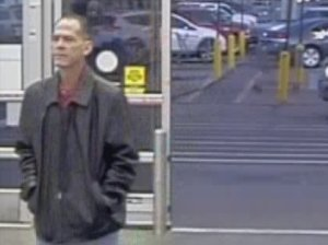The Thornton Police Department released still photographs of the suspect in the fatal triple shooting inside a Walmart Wednesday night. (Credit: Thornton Police Department)