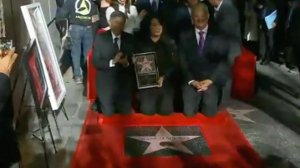 Selena Quintanilla was honored posthumously with a star on the Hollywood Walk of Fame on Nov. 3, 2017. (Credit: CNN)