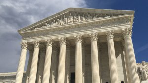 The exterior of the U.S. Supreme Court building on March 17, 2016. (Credit: Mallory Hughes/CNN)
