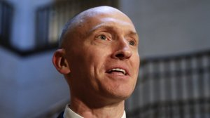 Former Trump foreign policy adviser Carter Page told the House intelligence committee last week that he floated the idea of then-candidate Donald Trump taking a trip to Russia in May 2016, according to transcript of his interview. (Credit: J. Scott Applewhite/AP)